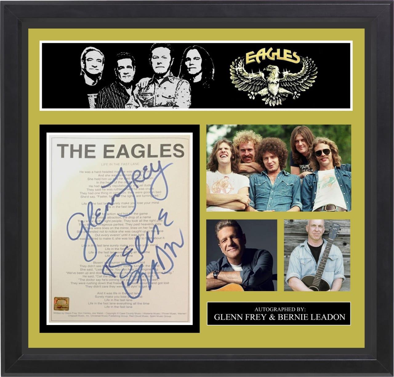 The eagles signed music lyrics in photo collage frame reverb jeuxipadfo Choice Image