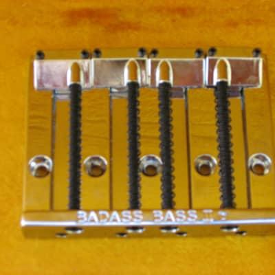 (s-882) Leo Quan Badass II Bass Bridge for Fender,  Chrome, Full Saddles for sale