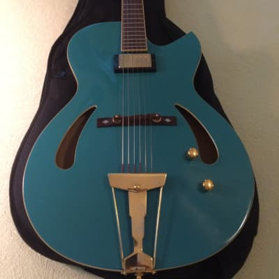 VV:  EXQUISITE Cort J. Triggs TRG-1 true hollowbody guitar, bag, GREAT DEAL--READ THIS for sale