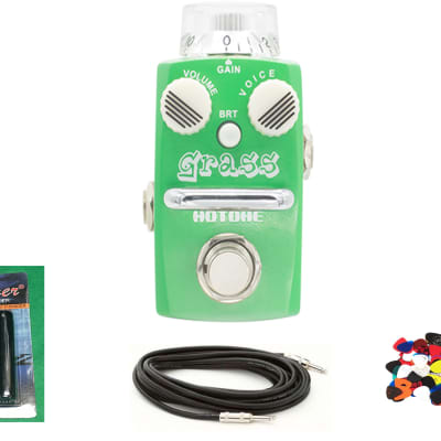 New Hotone Skyline Grass Overdrive Distortion Guitar Effects Pedal w/Free Cable, Winder & Pics for sale