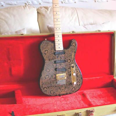 Fender Telecaster - James Burton Black & Gold Paisley 1994/95 Black & Gold Paisley for sale