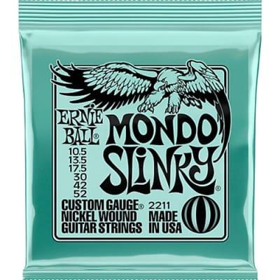 Ernie Ball 2211 Mondo Slinky Guitar Strings, 10.5 - 52