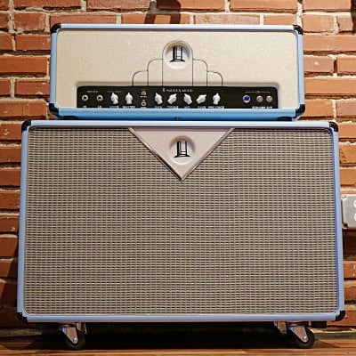 TopHat E-50em with Matching Special Design 2x12 Cabinet in Carolina Blue
