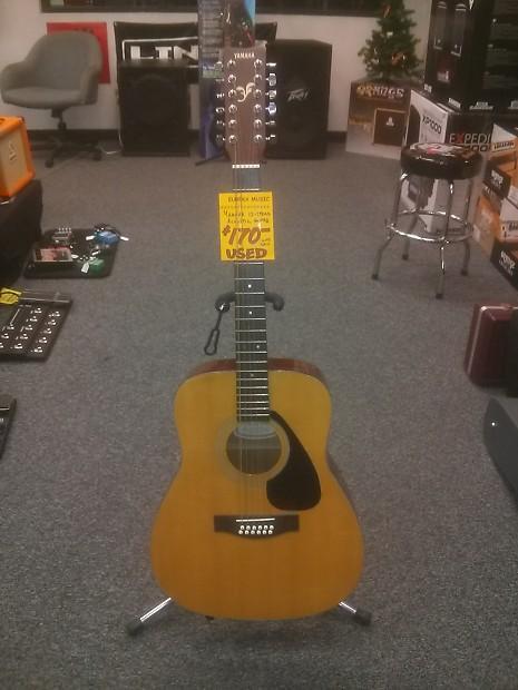 Yamaha Fg 412 12 String Acoustic Guitar Natural Reverb