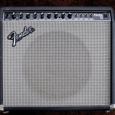 1990s Fender  Princeton 112 Amplifier Made In USA -  Black & Silver -  230 Volts for sale