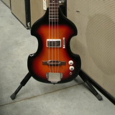 Supro Model 7289 Violin Bass 1965 Burst for sale