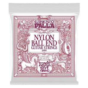 Ernie Ball 2409 Ernesto Palla Black Nylon Gold Ball End Classical Guitar Strings, .028 - .042