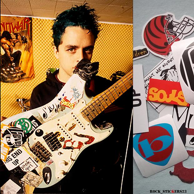 bj guitar stickers version 1996 green day vinyl punk rock reverb. Black Bedroom Furniture Sets. Home Design Ideas
