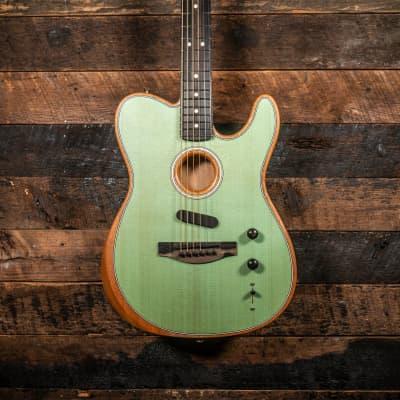 Available Now!  Fender  Acoustasonic Telecaster Surf Green for sale