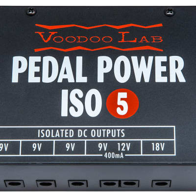 Used Voodoo Lab ISO 5 Guitar Effect Pedal Power Supply image
