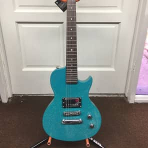 Luna Aurora short-scale electric guitar Teal Sparkle NEW Childrens / Travel for sale