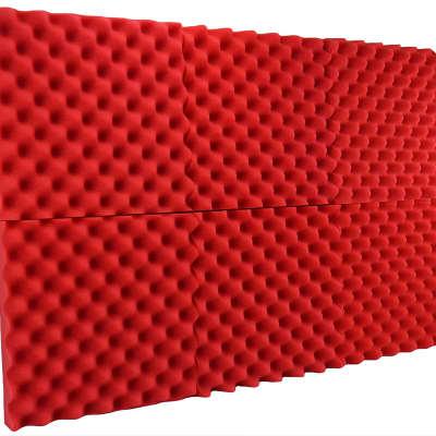 "New Level 6 Pack Acoustic Panels Studio Foam Egg Crate 2"" X 12"" X 12"" Red"