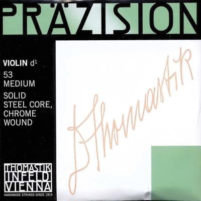 Thomastik-Infeld 53 Precision Chrome Wound Carbon Steel Core 4/4 Violin String - D (Medium)