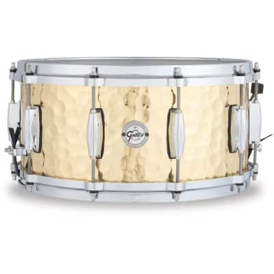 """Gretsch Silver Series 6.5x14"""" Hammered Brass Snare Drum"""