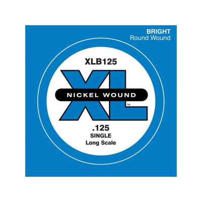 D'Addario Nickel Wound Single Bass String XLB125