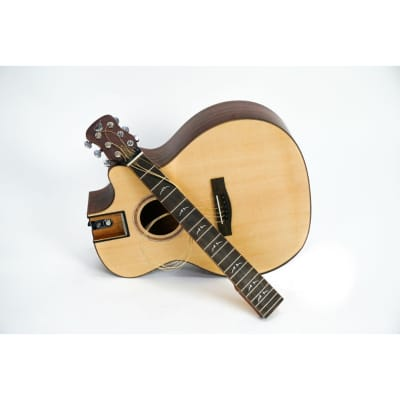 Journey Solid Sitka/ Mahogany GA Cutaway Travel Guitar - FF412C for sale