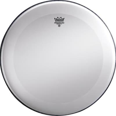 Remo Powerstroke 3 Smooth White No Stripe Bass Drum Head, 22 Inch