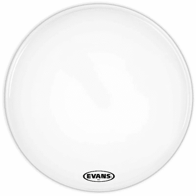 """Evans BD30MS1W MS1 White Marching Bass Drum Head - 30"""""""