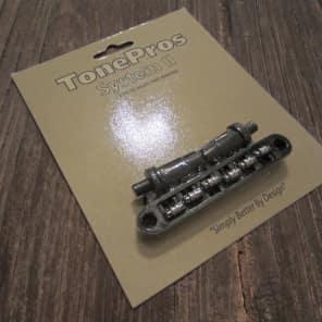 TonePros TPFR-B Metric Locking Tune-O-Matic Bridge with Roller Saddles