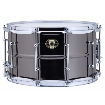 """Ludwig LW0814C Black Magic 8x14"""" Brass Snare Drum with Chrome Hardware"""