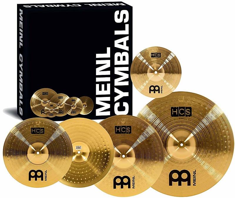 "Meinl HCS Cymbal Set: Hihat, Crash, Ride 14""/ 16""/20"", Plus a Free 10'' Splash image"