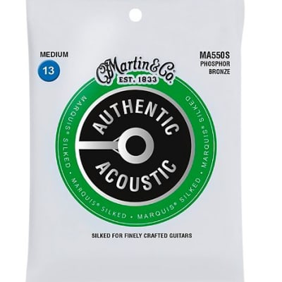 Martin MA550S Marquis Phosphor Bronze Medium Authentic Silked Acoustic Guitar Strings