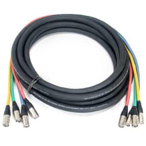 Elite Core Audio SUPERCAT6-QUAD-FAN-200 Shielded Quad CAT6 Dual 2' Fantail Tactical Ethernet Terminated Cable - 200'
