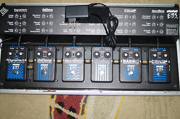 Ebs Ebs Black Label Bass Effects Pedal Board With 6