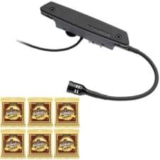 Fishman Rare Earth Blend Magnetic Soundhole Acoustic Pickup w/ 6 Sets Strings