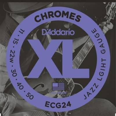 D'Addario Guitar Strings Set - Chromes - Jazz Light