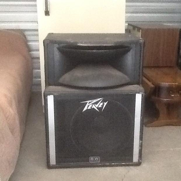 2 peavey sp2 speakers with stands 1996 black reverb. Black Bedroom Furniture Sets. Home Design Ideas
