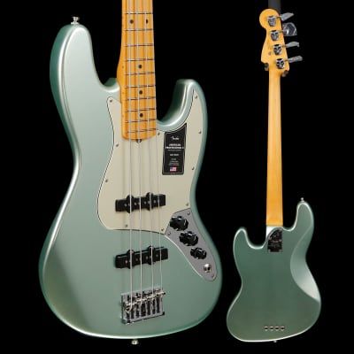 Fender American Professional II Jazz Bass, Maple Fb, Mystic Surf Green 911 9lbs 2.5oz