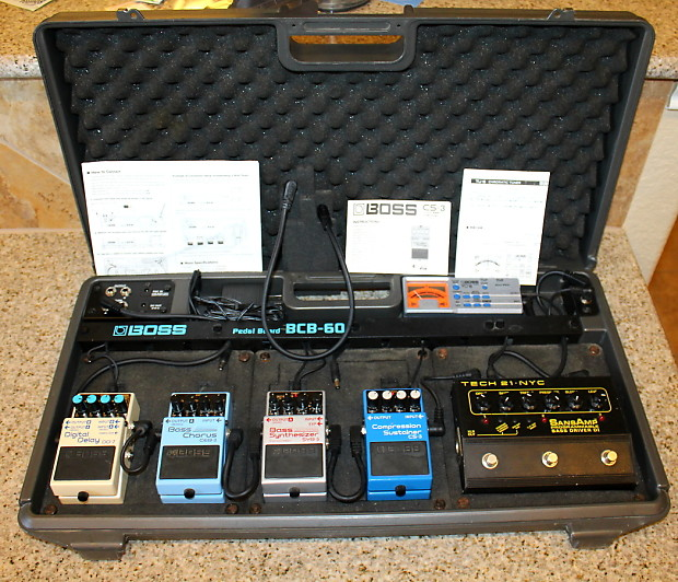 fully loaded boss bcb 60 powered pedalboard bass pedalboard reverb. Black Bedroom Furniture Sets. Home Design Ideas