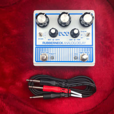 """DOD Rubberneck Analog Delay w/ TRS (""""Y"""") Cable for Effects Loop"""