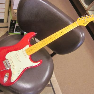 Tagima 530 guitar - Strat style - red sparkle finish for sale