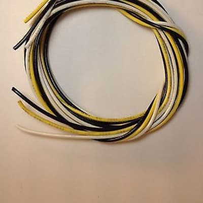 15 Feet (5 Black / 5 Yellow / 5 White ) 22 awg PVC Coated Guitar Wire 22 gauge
