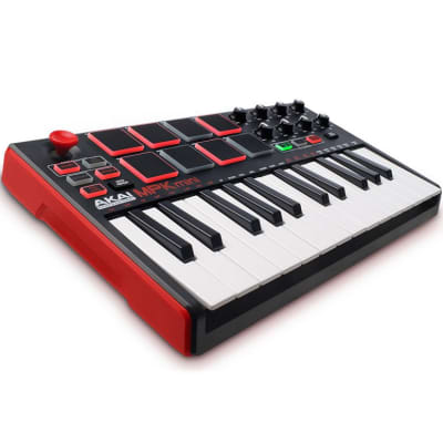 Akai Professional MPK Mini mkII 25-Key MIDI Controller - Red, White Keys