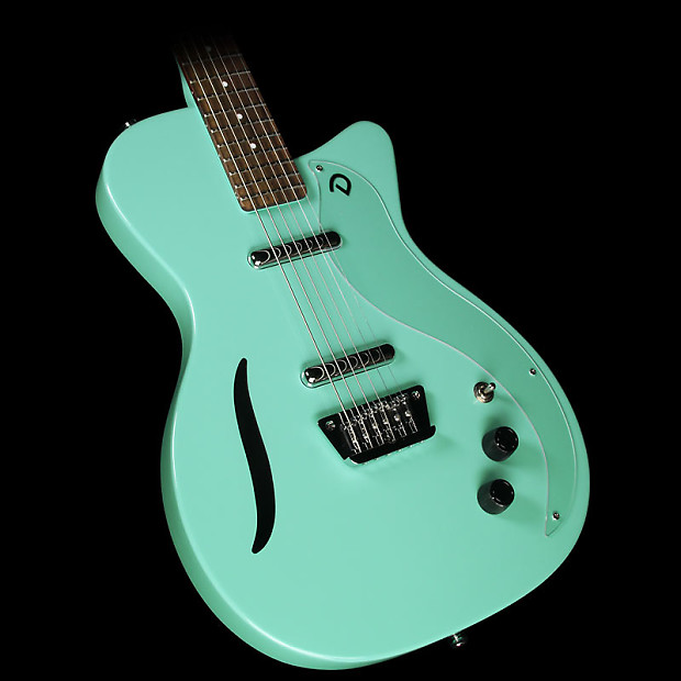 Danelectro Vintage Baritone Electric Guitar Dark Aqua | Reverb