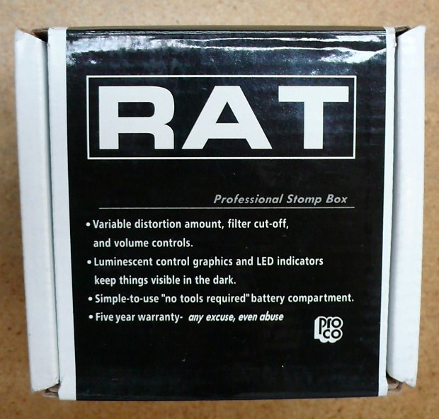 ProCo Rat Distortion retail box ONLY Guitar Effects Pedal Stompbox
