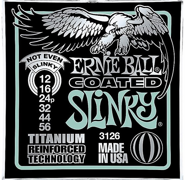 Ernie Ball 3126 Coated Not Even Slinky Electric Guitar String TitaniumFree Ship