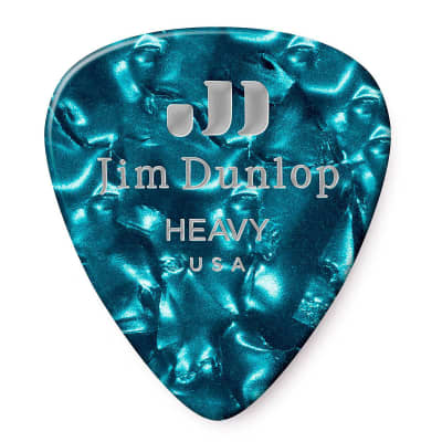 Dunlop 483R11HV Celluloid Standard Classics Heavy Guitar Picks (72-Pack)