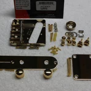 FENDER American Telecaster Gold Body Hardware Set Vintage 3 saddle USA Tele 0990806200
