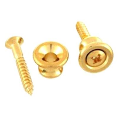 Gibson Style Strap Button Set (2) Gold