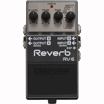 BOSS RV-6 Digital Reverb Guitar Effects Pedal for sale
