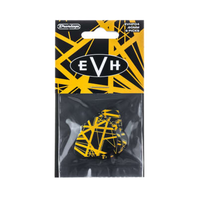 Dunlop EVHP04 Eddie Van Halen VH II Max-Grip .60mm Guitar Picks (6-Pack)