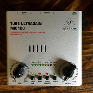Behringer Tube Ultragain MIC100 Vacuum Tube Preamp with Limiter