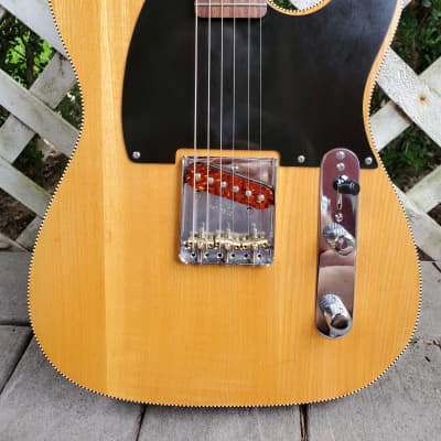 Telecaster or Esquire Style Guitar, Natural finish, Harmonic Design Pickup, Warmoth neck, Bound for sale