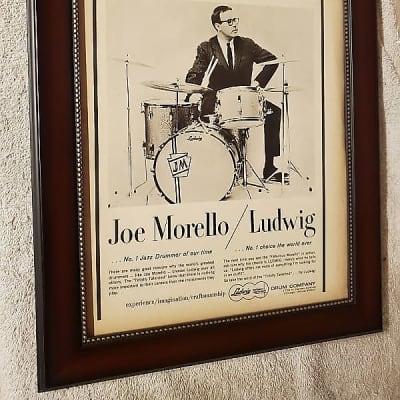 1965 Ludwig Drums Promotional Ad Framed Joe Morello Original