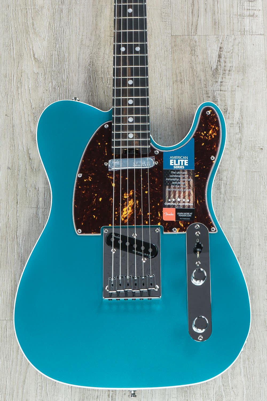 Fender American Elite Telecaster, Ocean Turquoise, Ebony | Reverb