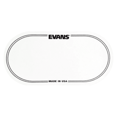 Evans EQPC2 EQ Clear Plastic Double Bass Drum Patch (comes with 2) - Ships FREE Lower 48 States!